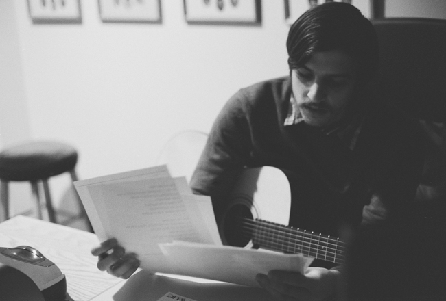 Matt preparing